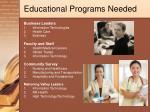 educational programs needed