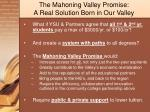 the mahoning valley promise a real solution born in our valley
