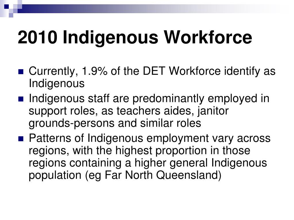 2010 Indigenous Workforce