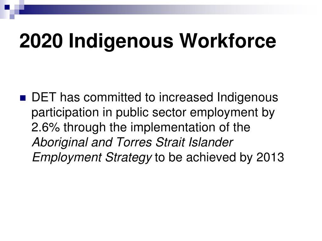2020 Indigenous Workforce