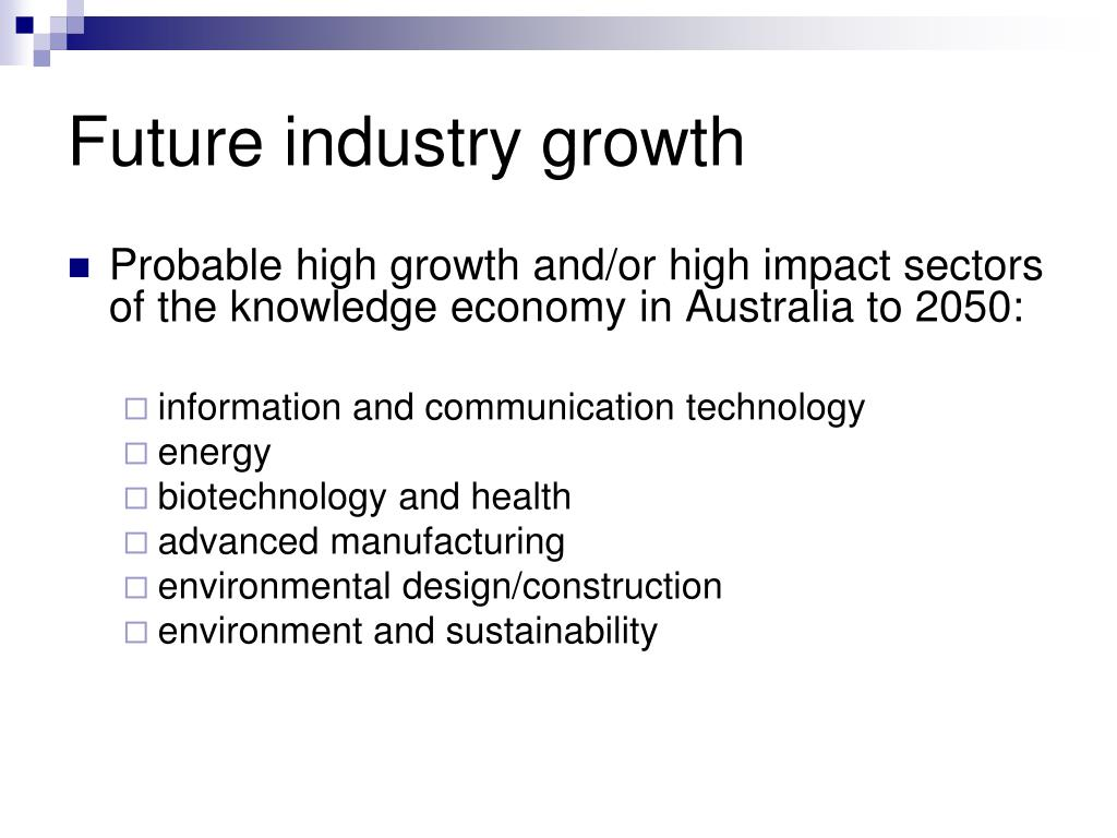 Future industry growth
