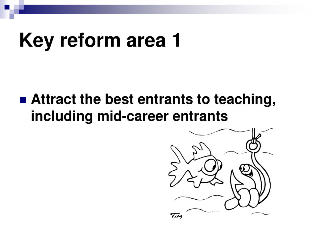 Key reform area 1