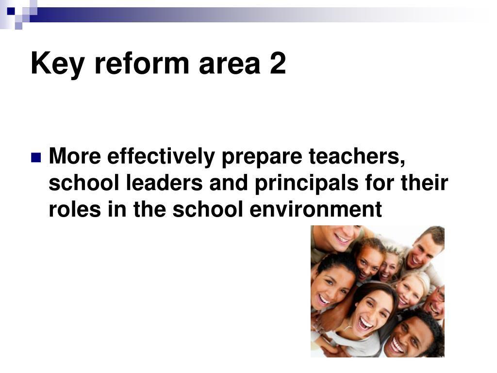 Key reform area 2
