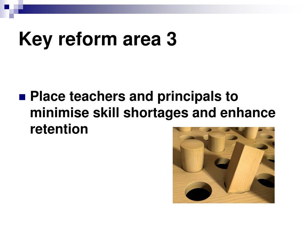 Key reform area 3