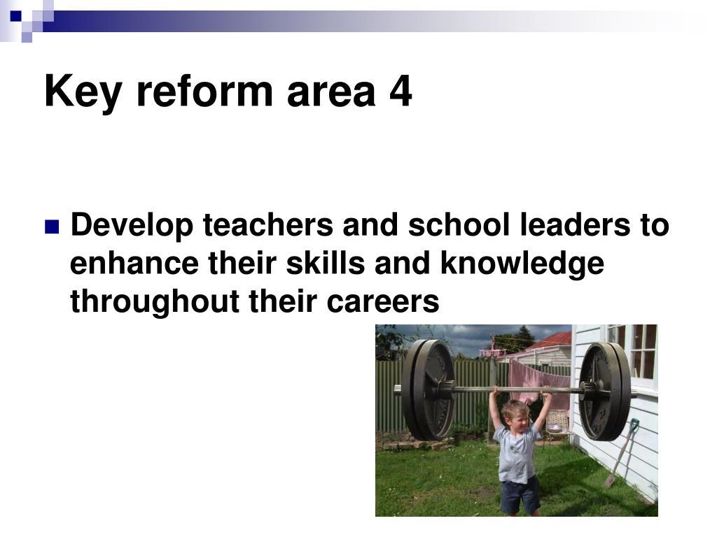 Key reform area 4