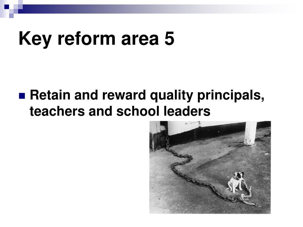 Key reform area 5
