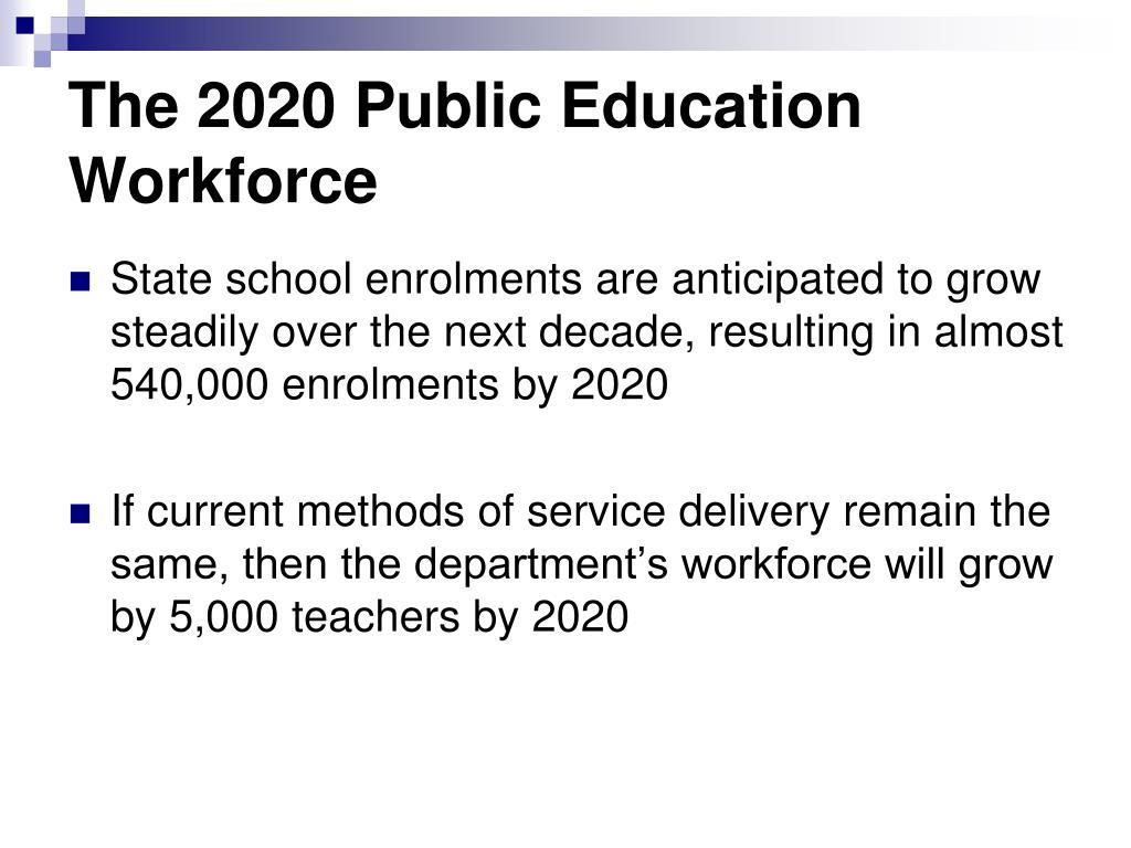 The 2020 Public Education Workforce