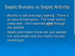 septic bursitis vs septic arthritis