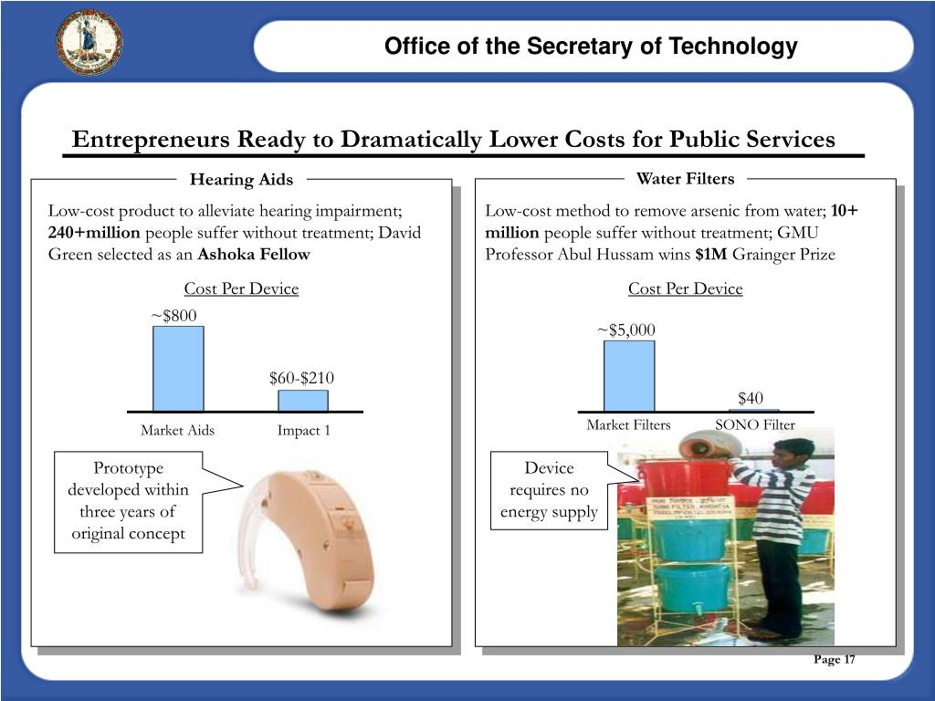 Entrepreneurs Ready to Dramatically Lower Costs for Public Services