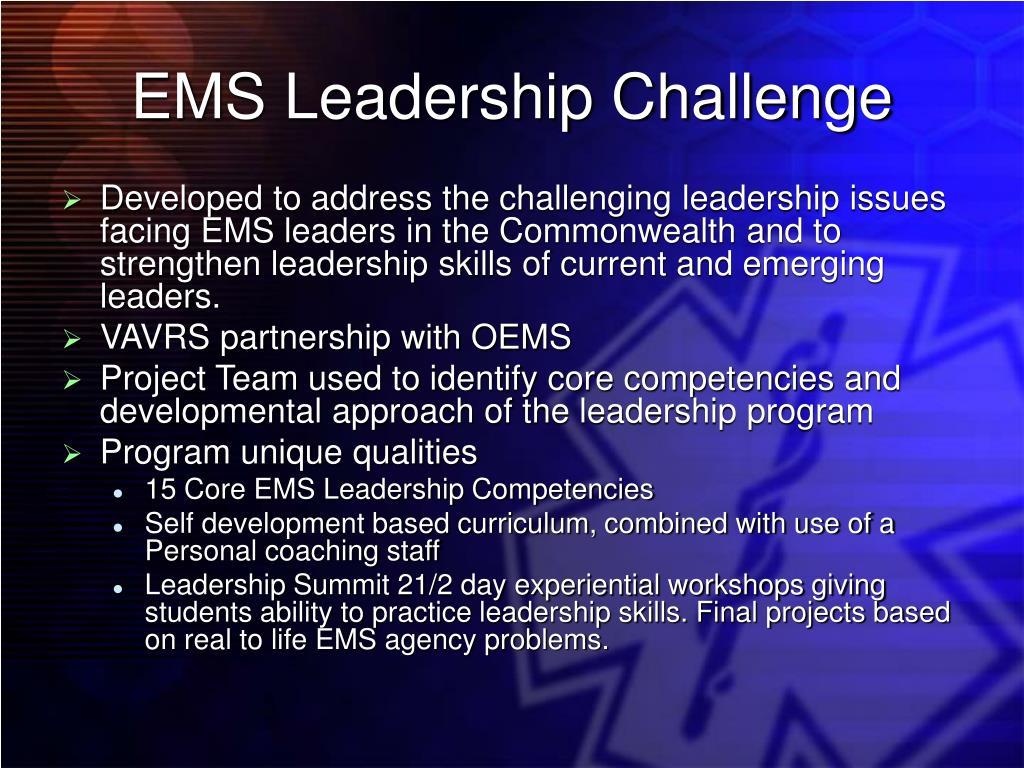 EMS Leadership Challenge