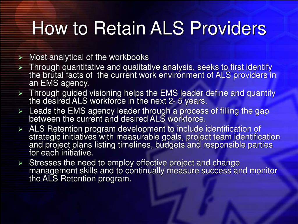 How to Retain ALS Providers