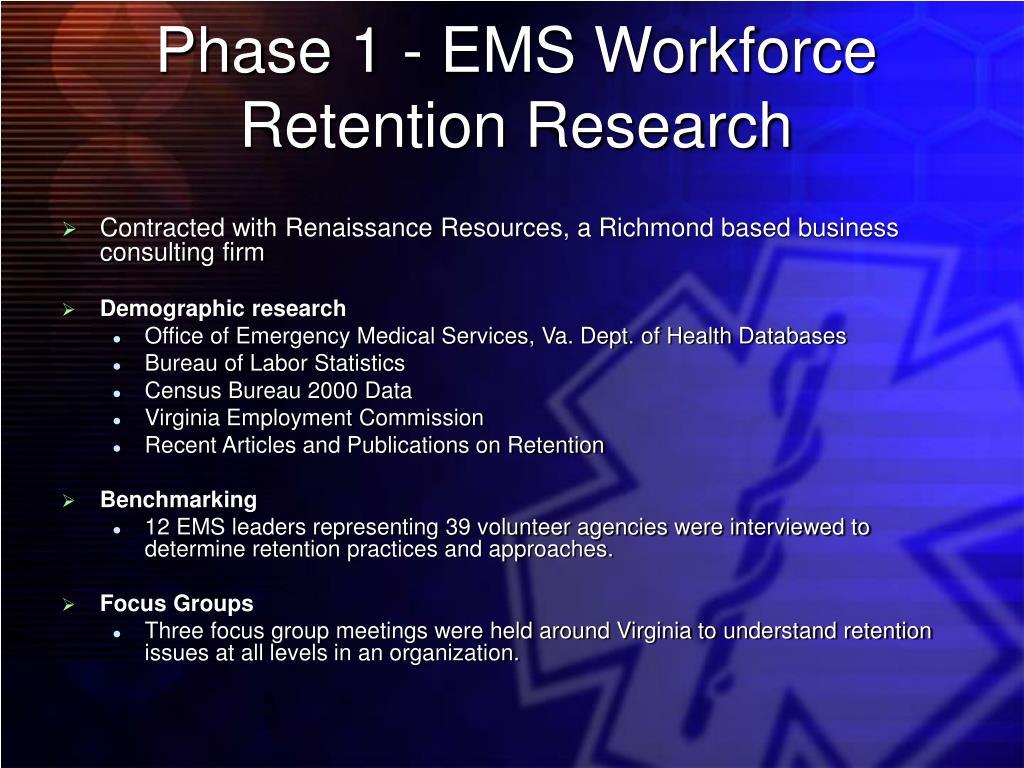 Phase 1 - EMS Workforce
