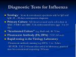diagnostic tests for influenza