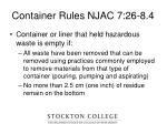 container rules njac 7 26 8 4