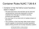 container rules njac 7 26 8 422