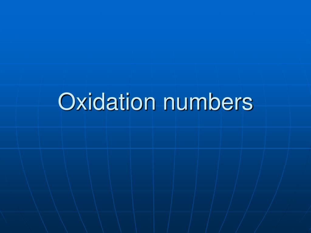 oxidation numbers l.