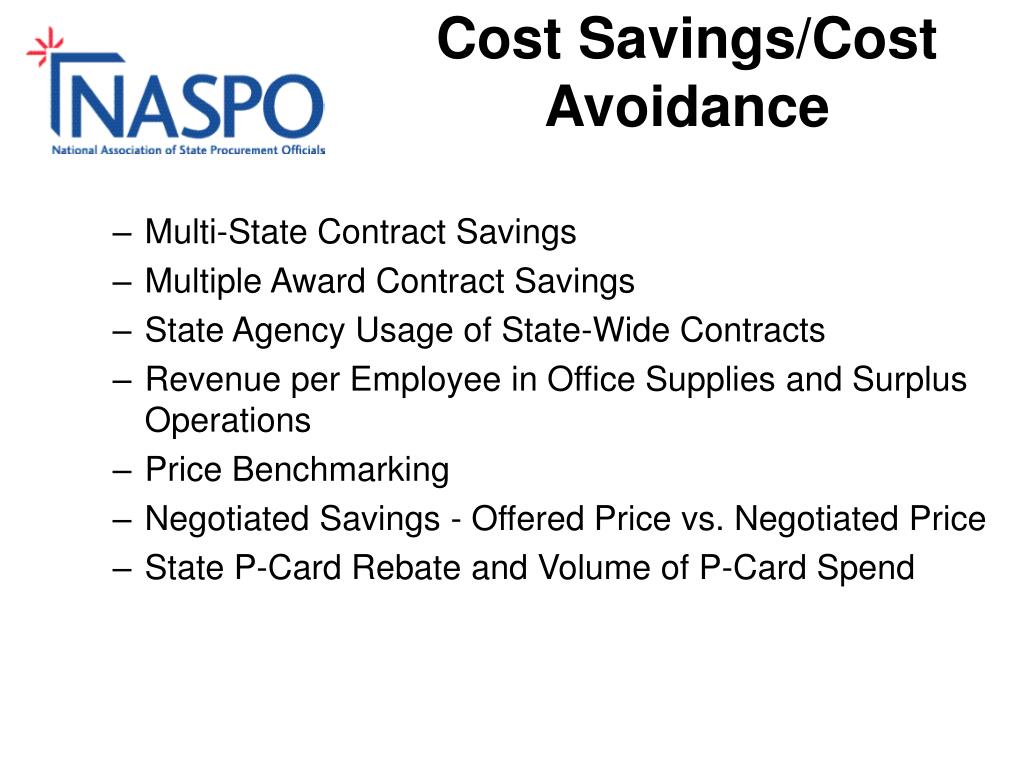 Cost Savings/Cost Avoidance