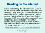 reading on the internet