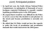 cont anticipated problem