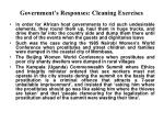 government s responses cleaning exercises