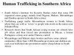 human trafficking in southern africa