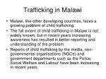 trafficking in malawi