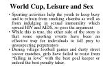 world cup leisure and sex