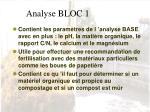 analyse bloc 1