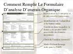 comment remplir le formulaire d analyse d engrais organique