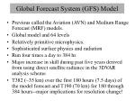 global forecast system gfs model
