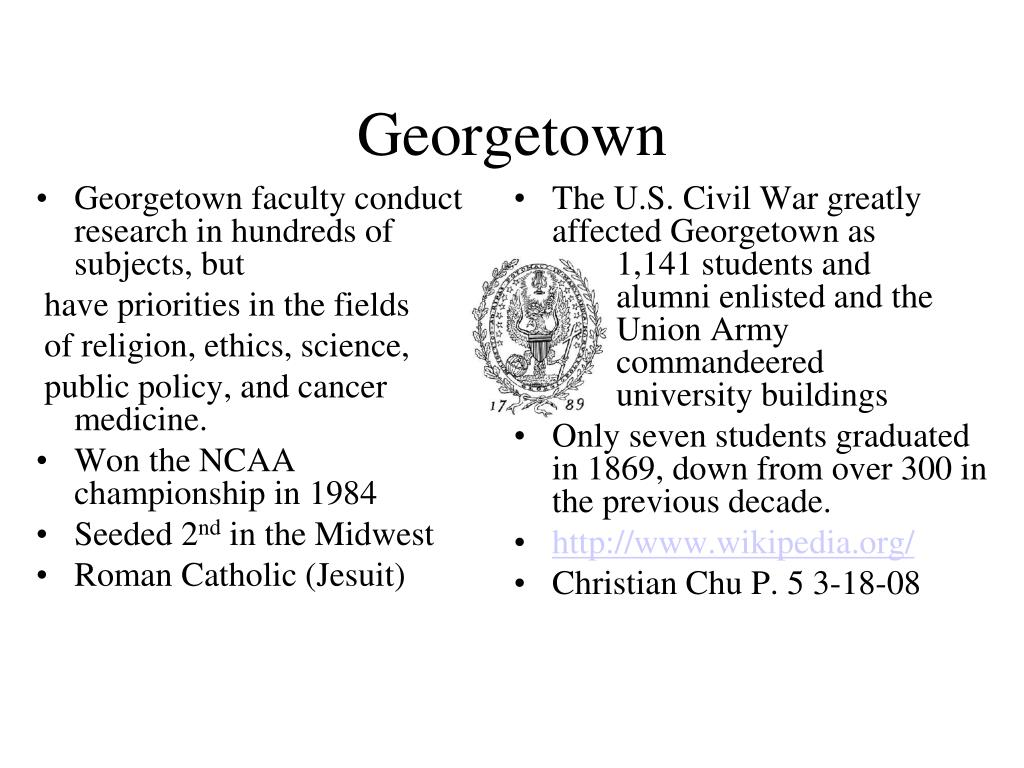 Georgetown faculty conduct research in hundreds of subjects, but