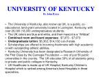 university of kentucky by john byun