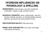 foreign influences on phonology spelling
