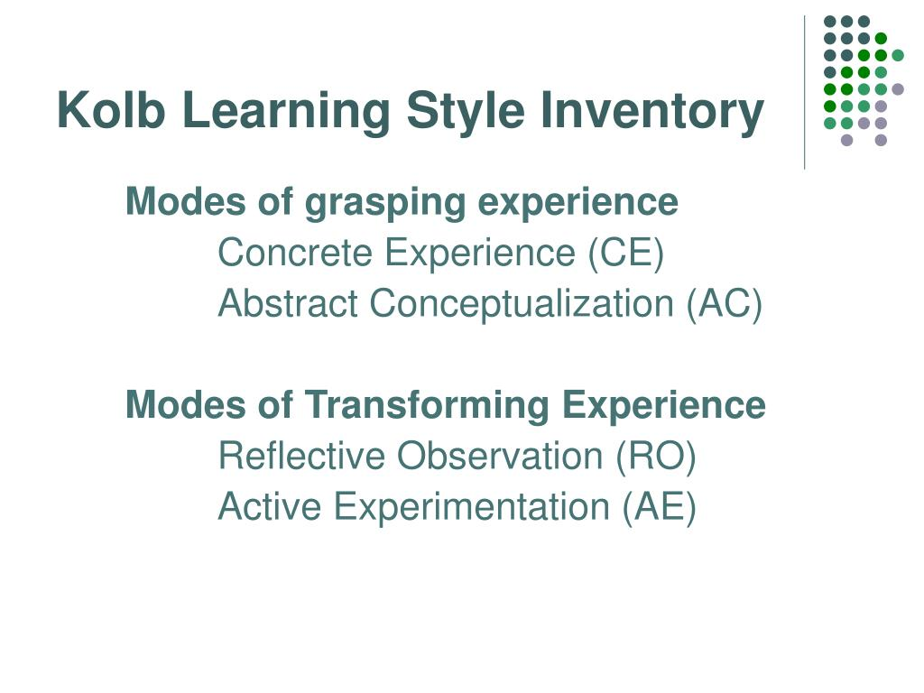 Kolb Learning Style Inventory