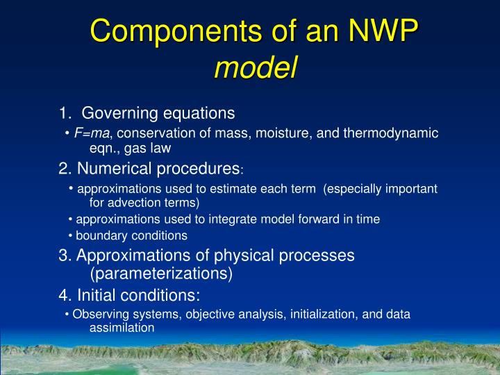 Components of an NWP