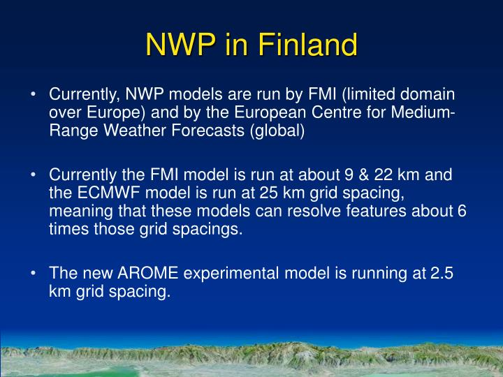 NWP in Finland