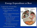 energy expenditure at rest3