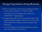energy expenditure during running
