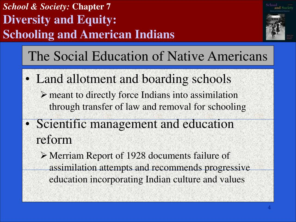 Land allotment and boarding schools