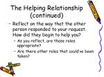the helping relationship continued