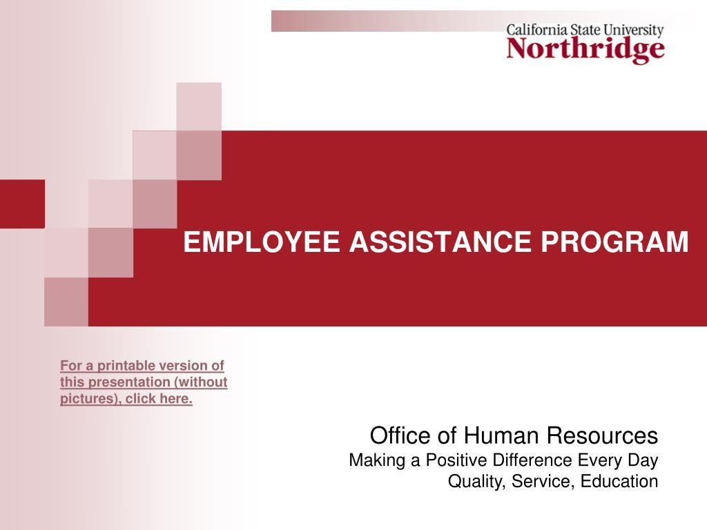 employee assistance program l.