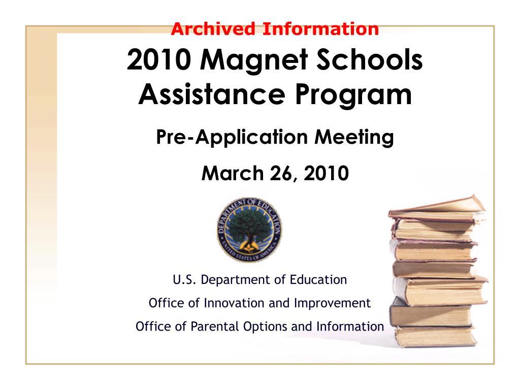 2010 magnet schools assistance program