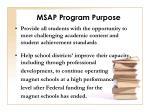 msap program purpose7