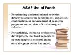 msap use of funds
