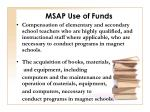 msap use of funds11