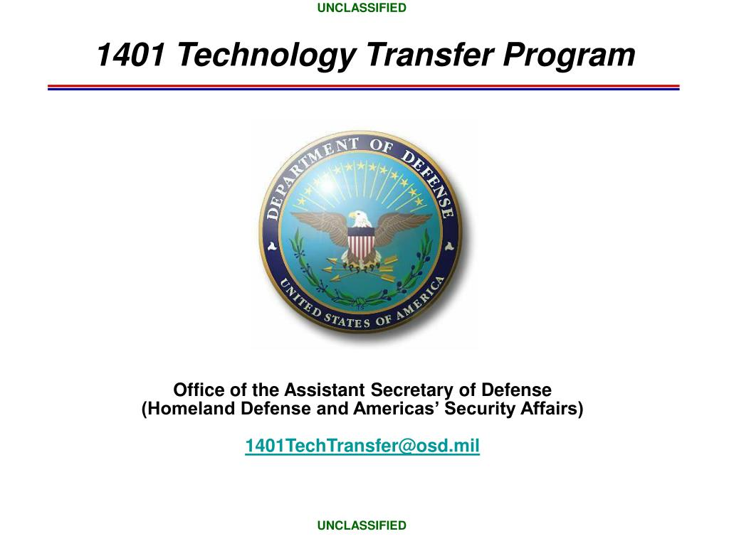 1401 technology transfer program l.