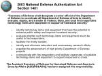 2003 national defense authorization act section 1401