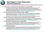 dod support to first responders technical expertise