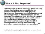 what is a first responder