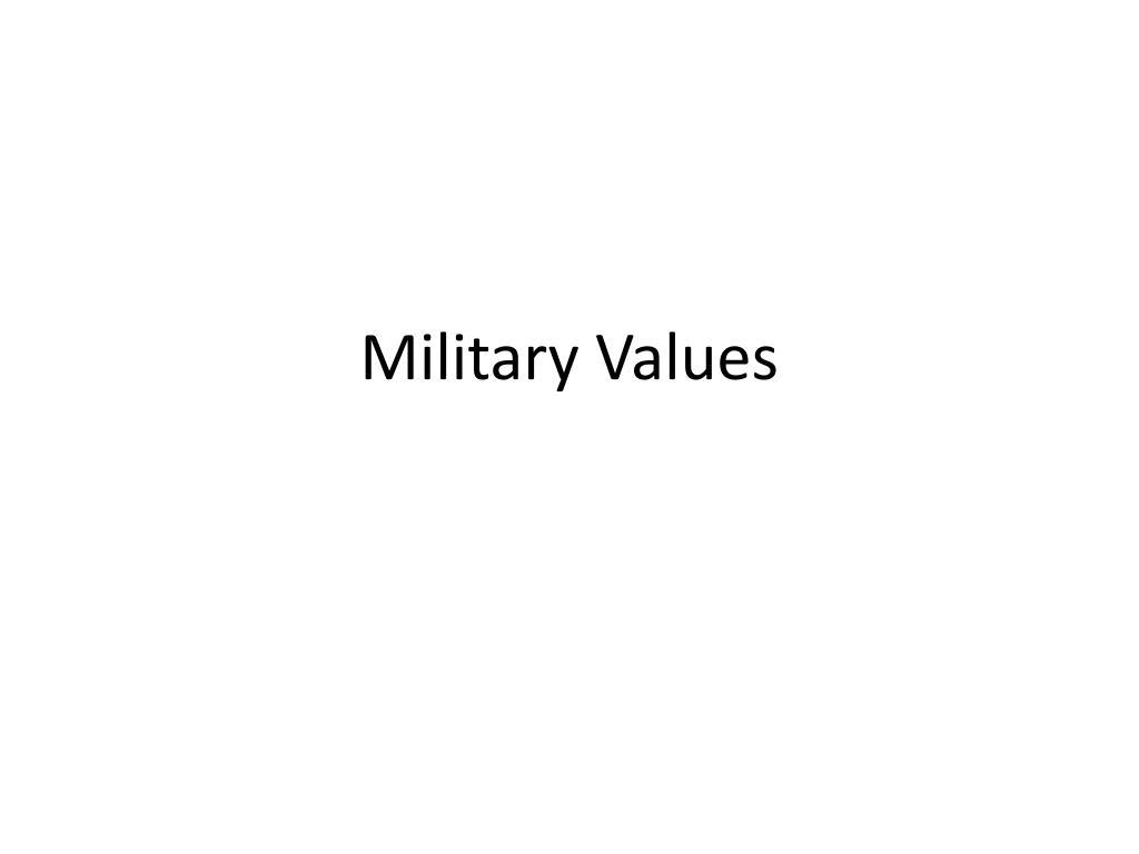Military Values